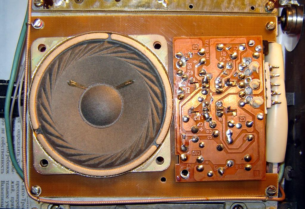 плата синтезатора, УНЧ